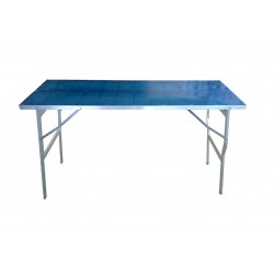 tavolo in alluminio price60 100x150h80cm con resina senza rivetti bancarella da mercato