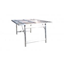 Banco Price65 senza piano 120x150cm tavolo alluminio pieghevole bancarella da mercato