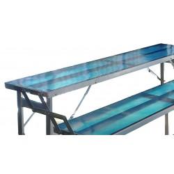 Tavolo 2 gradini con resina per esposizione merce