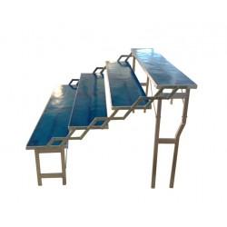 Banco a scala 4 gradini con resina blu