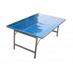 tavolo in alluminio price60 h63cm con resina bancarella da mercato