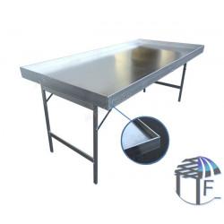 Banco ALU BOX in alluminio con piano in alluminio e bordo alto 6cm