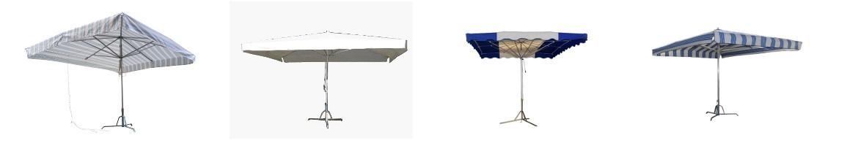 Parasols en aluminium